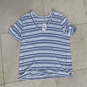 Splendid NWT $48 Navy and White Striped Tee